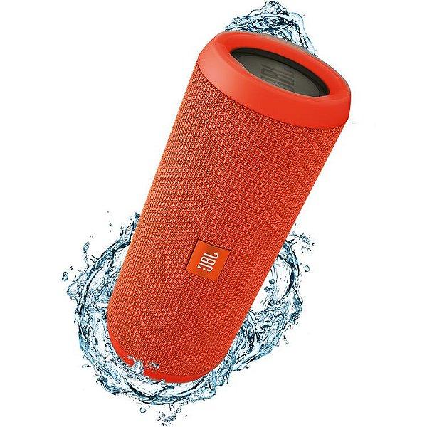 Caixa de Som Portátil Bluetooth Stereo Speaker JBL Flip 3 Laranja À Prova d'agua