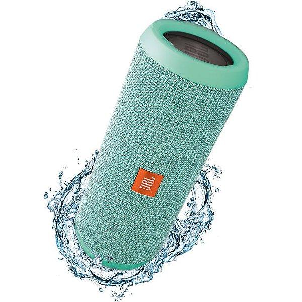 Caixa de Som Portátil Bluetooth Stereo Speaker JBL Flip 3 Verde À Prova d'agua