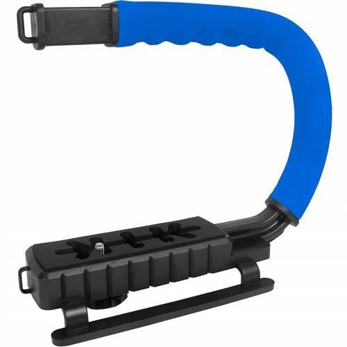 Grip e estabilizador de mão p/ câmera DSLR azul VIVVPT200 - Vivitar