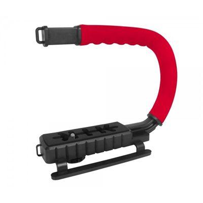 Grip e estabilizador de mão p/ câmera DSLR vermelha VIVVPT200 - Vivitar