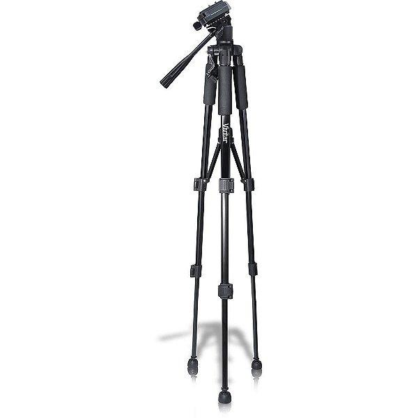 Tripé para câmera fotográfica com ajuste de altura até 1,45m VIVVPT2457 - Vivitar