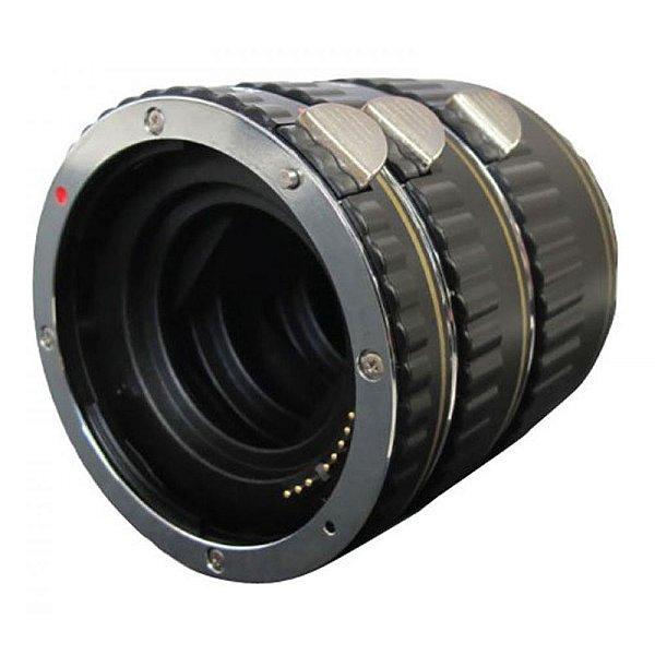 Três tubos de extensão para câmera DSLR Canon - VIV-EXTC - Vivitar