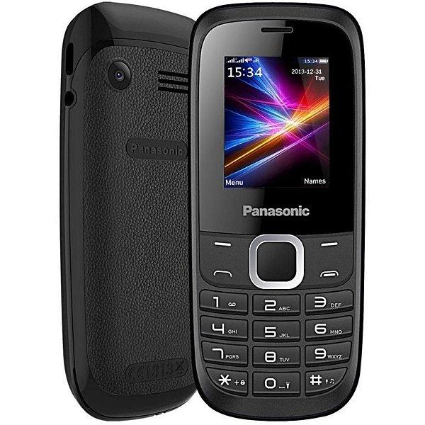 """Celular Panasonic GD18 Dual SIM 1.8"""" possui Lanterna Led + Rádio FM - Preto"""