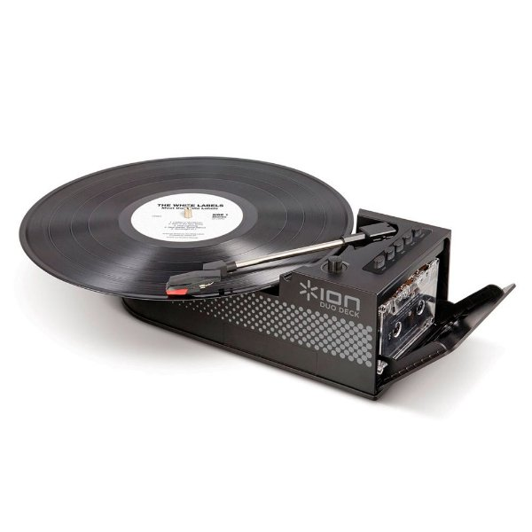 Toca-Discos e Fita K7 portátil com alto-falante e conversor digital - DUODECK - Ion