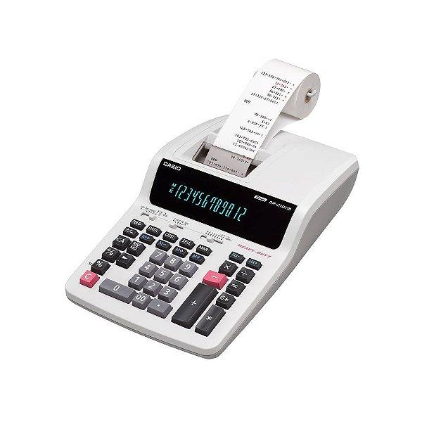 Calculadora de mesa com impressora 4,4 linhas por segundo - DR210TM-WEBU - Casio