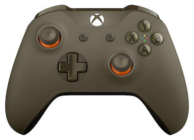 Controle Sem Fio Edição Especial Militar Verde/Laranja - Xbox One