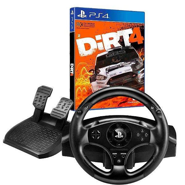 Kit Controle Volante T80 para PS3/PS4 Racing Wheel Com Jogo DIRT 4 para PS4