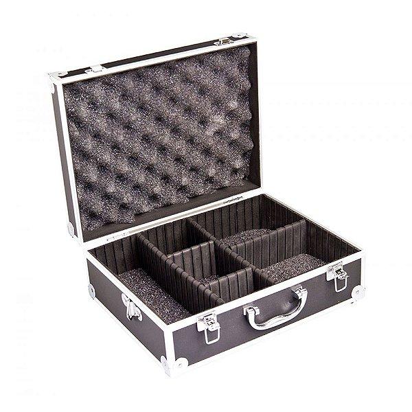 Maleta rígida c/ divisórias p/ câmera digital SLR, filmadora profissional e acessórios VIVVHC1800 - Vivitar