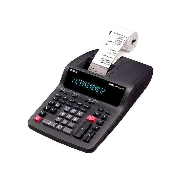 Calculadora com impressora 3,5 linhas / seg, 12 dígitos e bobina de 58 mm - DR-120TM-220 - Casio
