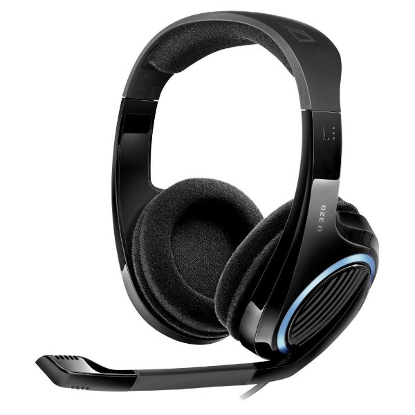 Headset com microfone para PC, Mac, Xbox 360, Xbox One, PS3 e PS4 - U320 - Sennheiser