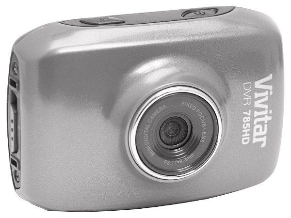 Câmera filmadora de ação HD com caixa estanque e acessórios cinza - DVR785HD - Vivitar
