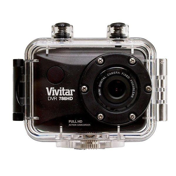Câmera filmadora de ação Full HD com caixa estanque e acessórios preta - DVR786HD - Vivitar