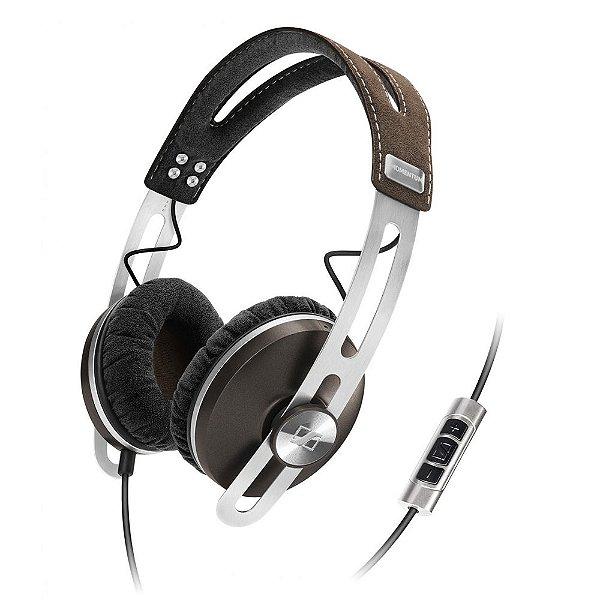 Fone de ouvido tipo headphone com microfone MOMENTUM marrom - MMTUMOE - Sennheiser
