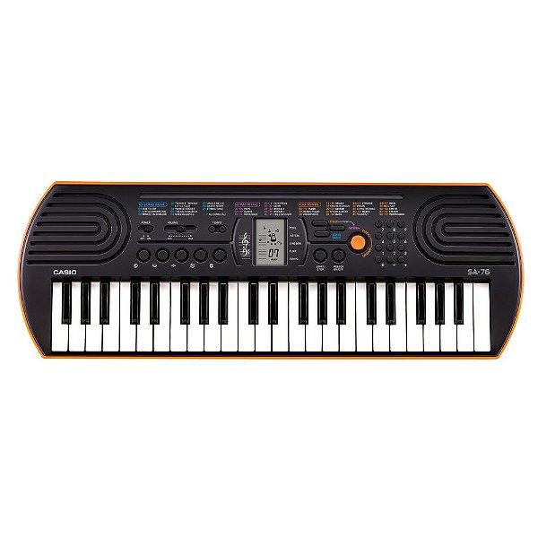 Mini teclado 44 teclas mini, 100 timbres e 50 ritmos - SA-76 - Casio
