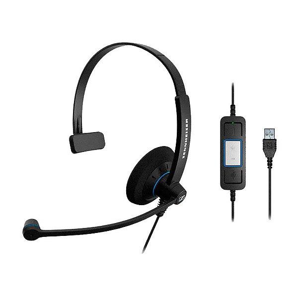 Headset profissional com microfone, controle e conexão USB - SC30USB - Sennheiser
