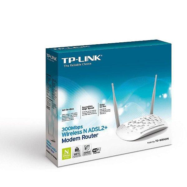 Modem Roteador Wireless N Adsl2+ 300mbps Td-W8961n Tp-Link