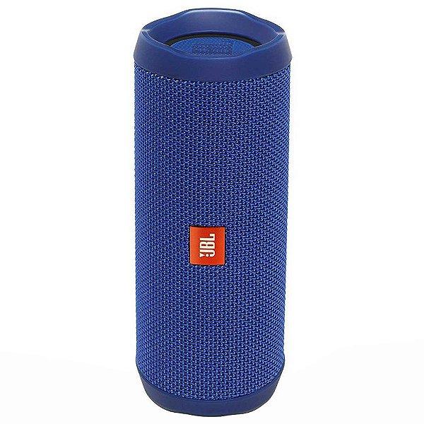 Caixa de Som Portátil Bluetooth Stereo Speaker JBL Flip 4 Azul À Prova d'agua