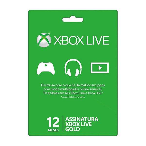 Microsoft Assinatura Xbox Live Gold 12 Meses 25J-00020
