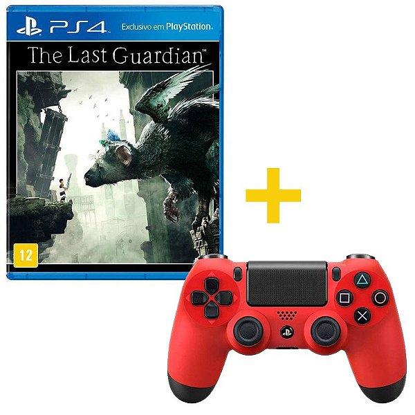 Controle sem Fio para Playstation 4 (PS4) vermelho Com Jogo The Last Guardian PS4