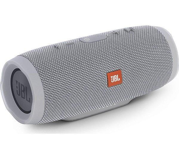 Caixa de Som Portátil Bluetooth JBL Charge 3 Cinza À Prova d´agua