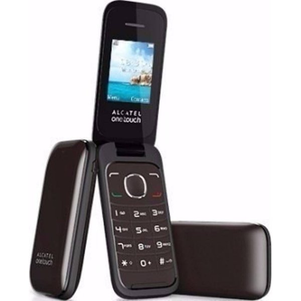 Celular Alcatel Flip 2 Chips Desbloqueado One Touch 1035 Preto