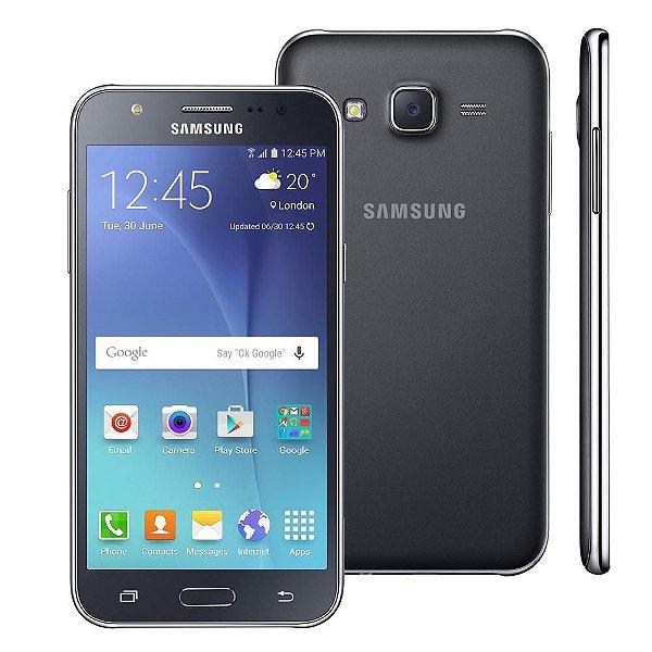 """Samsung Smartphone Galaxy J5 Duos Preto com Dual chip, Tela 5.0"""", 4G, Câmera 13MP, Android 5.1 e Processador Quad Core de 1.2 Ghz"""