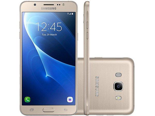 """Samsung Galaxy J7 Duos Metal Dourado com 16GB, Dual chip, Tela 5.5"""", 4G, Câmera 13MP, Android 6.0 e Processador Octa Core de 1.6 Ghz"""