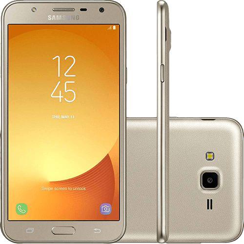 "Samsung Galaxy J7 Neo Dual Chip Android 7.0 Tela 5.5"" 16GB 4G Câmera 13MP - Dourado"