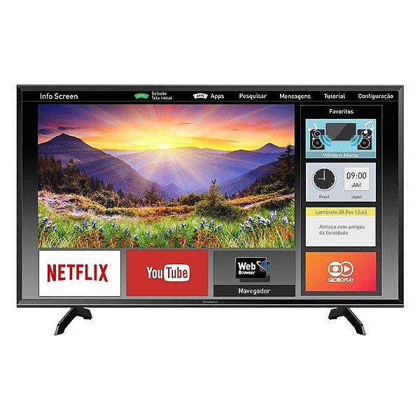 """Smart TV 40"""" LED Panasonic TC-40ES600B Full HD com Wi-Fi 2 USB 3 HDMI Hexa Chroma e 60Hz"""
