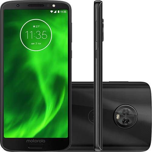 Smartphone Motorola Moto G6 XT1925 64GB Dual Câmera 12 + 5MP PRETO