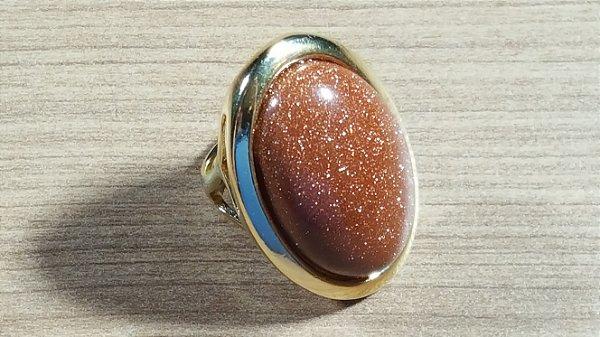 Anel Pedra do Sol Oval Mega Maxi Amazon
