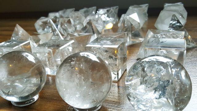 Sólidos Geométricos e Platônicos de Cristal de Quartzo Grande Kit G2 G3 G4