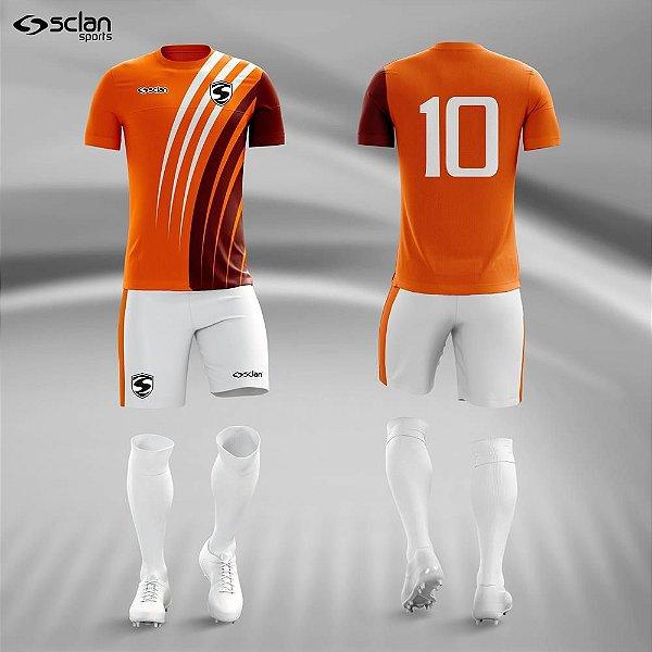 Jogo Camisa Futebol Ouro ss74