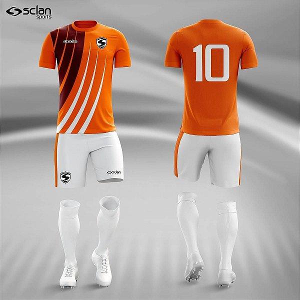 Jogo Camisa Futebol Ouro ss75