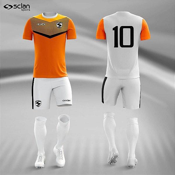 Jogo Camisa Short Meião Bermuda Esportiva Personalizada - Sclan ... f54abdedb7aa6