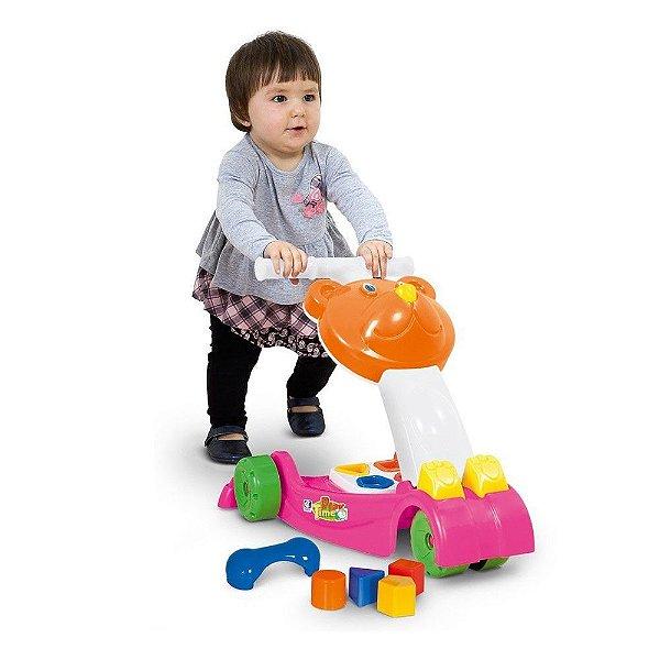 Andador com Atividades Rosa Play Time Cotiplas