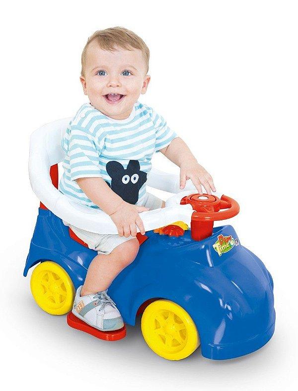 Andador e Carrinho Atividades Bebê Azul - Play Time Cotiplás