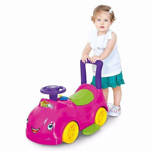 Andador e Carrinho Atividades Bebê Rosa - Play Time Cotiplás