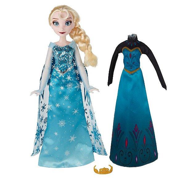 Boneca Elsa Vestido Real de Coroação Frozen Disney - Hasbro