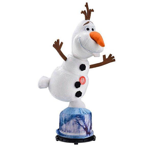 Pelucia Frozen Olaf Gira e Fala Multikids