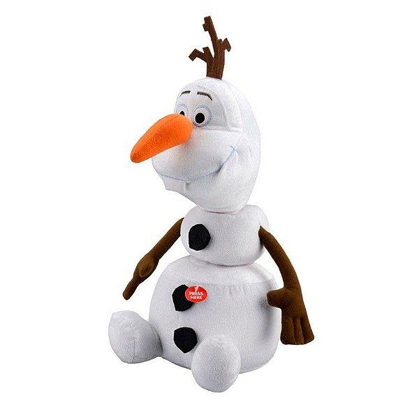 Pelucia Olaf Frozen com Frases Desenho Filme Disney Brinquedo Personagem