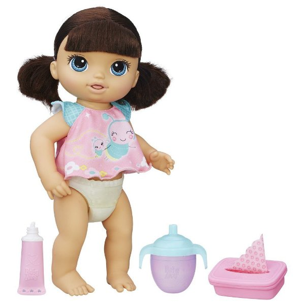 Boneca Baby Alive Fraldinha Mágica Morena - Hasbro