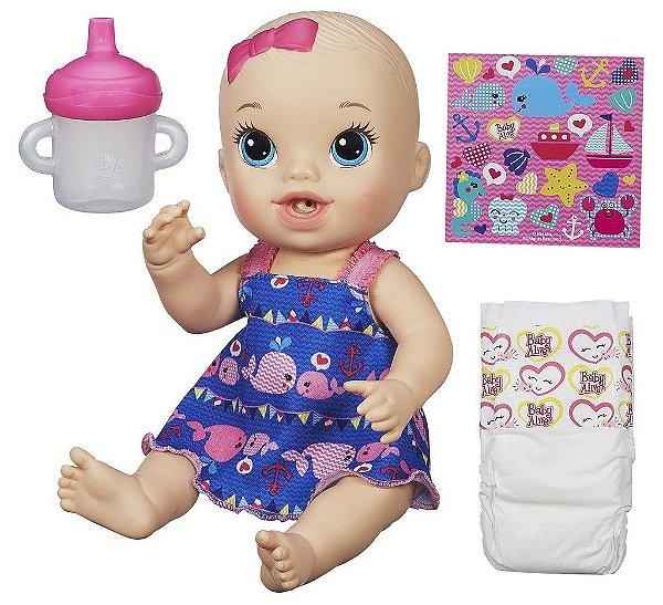 Baby Alive Hora do Xixi Loira - Vestido Azul - Hasbro