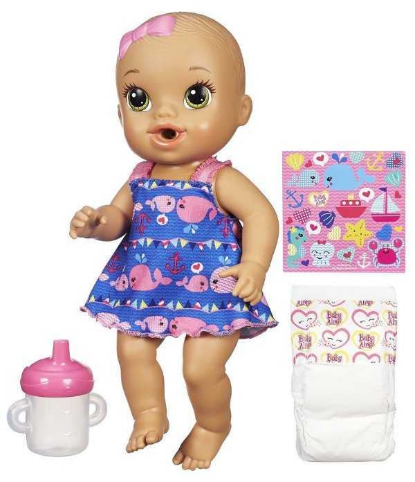 Baby Alive Hora do Xixi Morena - Vestido Azul