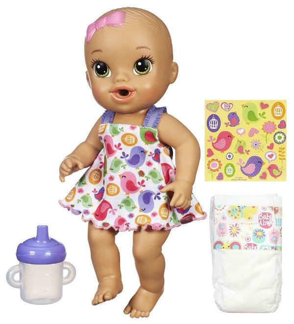 Baby Alive Hora do Xixi Morena - Vestido Branco