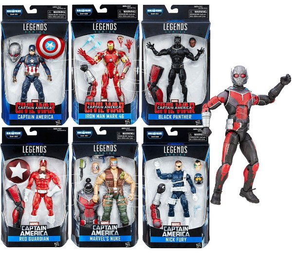 Kit Captain America Civil War Marvel Legends - Giant Ant Man
