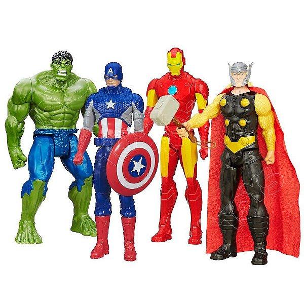 Kit Bonecos Marvel Avengers Titan Hero Series 30cm