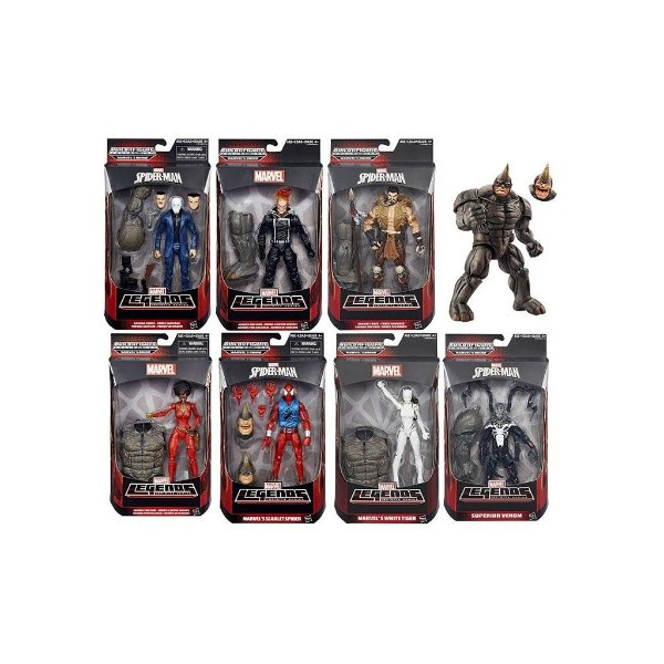 Kit Spider Man Marvel Legends Infinite Series Rhino - Hasbro