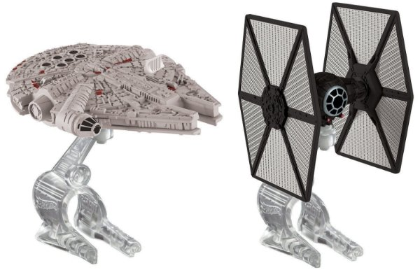 First Order Tie Fighter Vs. Millennium Falcon Star Wars The Force Awakens