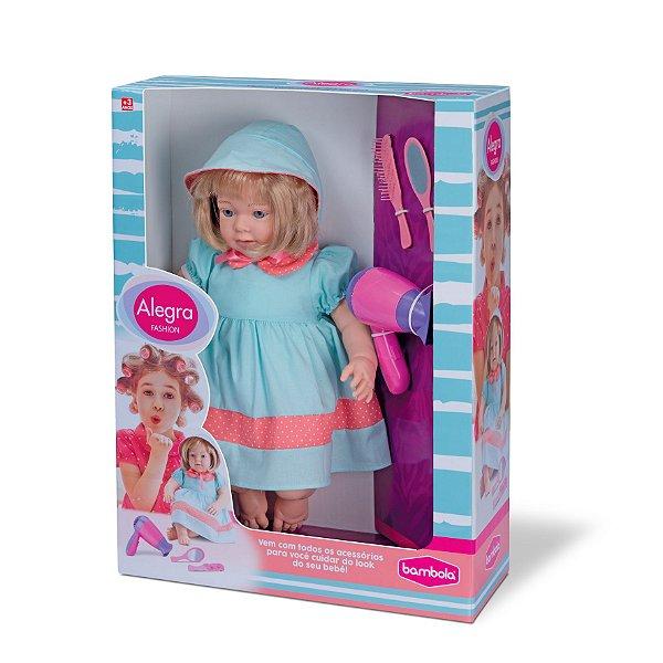 Boneca Alegra Fashion com Acessórios - Bambola